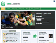 Tablet Preview of druryrugby.co.nz